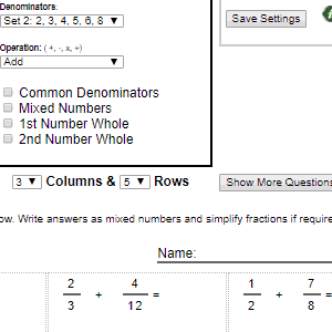 Printable Math Worksheet Generators